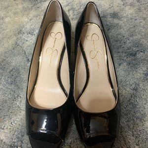 Jessica Simpson black wedges size 9.5